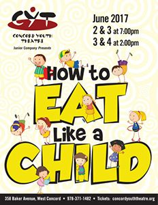 How to Eat Like a Child June 2, 3 at 7:00 pm June 3, 4 at 2:00 pm