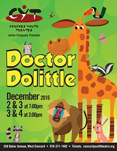Dr. Dolittle December 2, 3 at 7:00 pm December 3, 4 at 2:00 pm