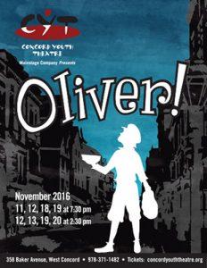 Oliver! November 11, 12, 18, 19 at 7:30 pm November 12, 13, 19, 20 at 2:30 pm