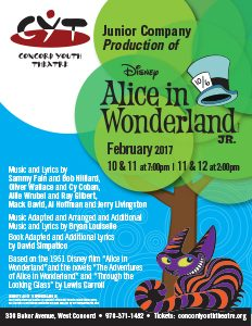 Alice in Wonderland Feb. 10, 11 at 7:00 pm Feb. 11, 12 at 2:00 pm