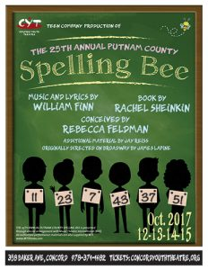 Get Your Tickets For CYT's Fall Teen Performance -The 25th Annual Putnam County Spelling Bee