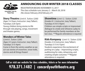 Registration Now Open For CYT's Winter 2018 Theatre Arts Classes