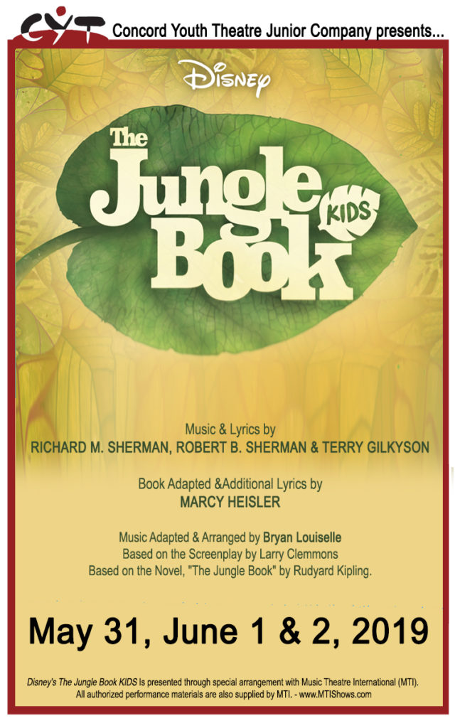 Come See CYT's Junior Company Perform Disney's Jungle Book Kids