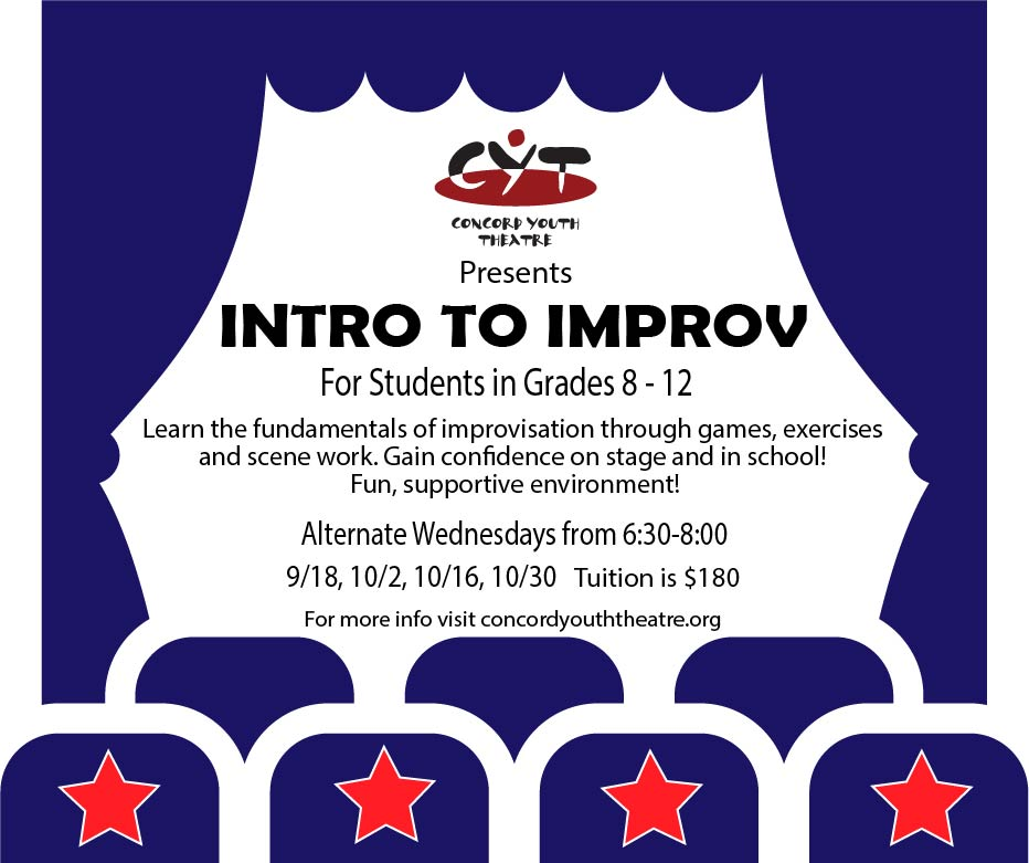 Register for CYT's new Workshop  – Intro to Improv